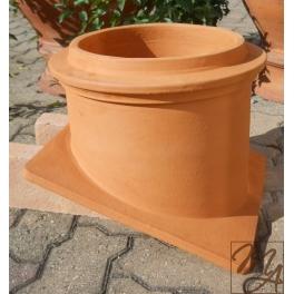 Faldale in terracotta per comignolo diametro 25